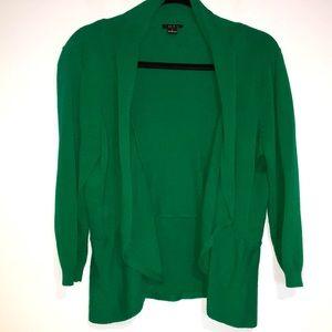 Iman Green waterfall cardigan 3/4 sleeves Sz L
